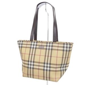 Burberry London BURBERRY LONDON Ladies Check Shoulder Bag PVC Leather ベ ー ジ ュ Beige