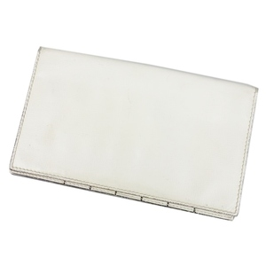 Valextra Made in Italy Men's Long Wallet Leather Genuine White Purse