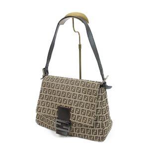 Fendi FENDI made in Italy Zucca pattern Mamma bucket canvas leather beige ladies bag 鞄