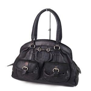 Christian Dior Leather Handbags Ladies Italian Black Bags