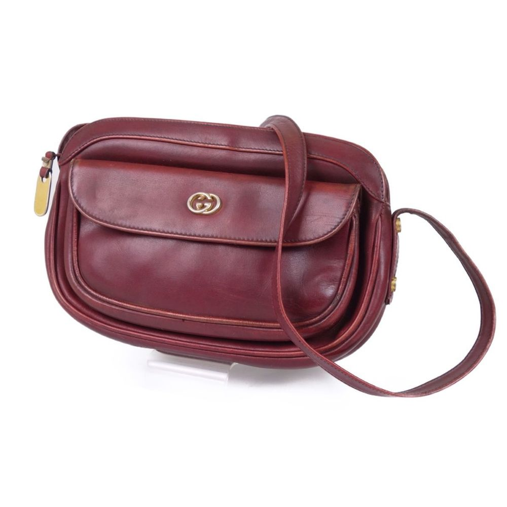 cd0bfd4c5 Gucci GUCCI old gucci interlocking leather shoulder bag made in Italy red  vintage