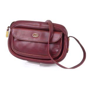7fa3f78dd8e37e Gucci GUCCI old gucci interlocking leather shoulder bag made in Italy red  vintage