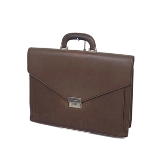 Burberry BURBERRY men's leather briefcase business bag 書 類 papers brown