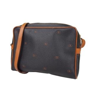 6abde0f923 Valentino Garavani Italian Ladies Shoulder Bag PVC Leather 鞄 Black Brown