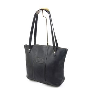 Christian Dior Made in France Ladies Shoulder Bags Tote Leather 鞄 Black Vintage Logo