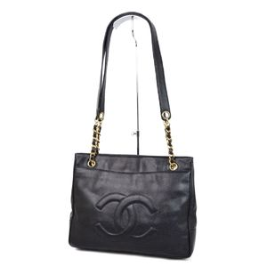 9a9e25c289face Chanel CHANEL Cocomark Chain Shoulder Bag Tote Caviar Skin Black / Gold  Women's Italian Vintage