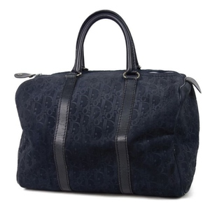 Christian Dior Made in France Ladies Trotter Nubuck Leather Boston Bag Navy バ ッ グ Vintage