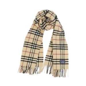 Burberry London BURBERRY LONDON Scottish 100% Wool Check Muffler Women's Beige