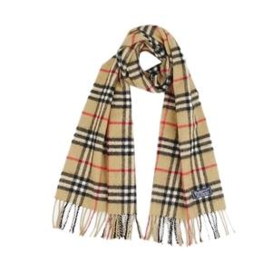 Burberry Burberrys UK made cashmere 100% scarf Women's men's beige