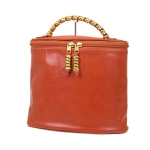 Loewe LOEWE Leather Twisted Handbag Vanity Bags Ladies Spanish Orange Vintage