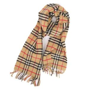 Burberry BURBERRY British Check Wool Muffler Women's Mens Camel Vintage Unisex Made in England