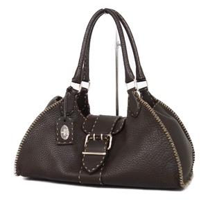 Fendi FENDI Italian Ladies Handbag Leather Genuine Bag バ ッ グ Brown