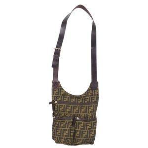 Fendi FENDI Zucca Pattern Shoulder Bag Body Brown Made in Italy Vintage