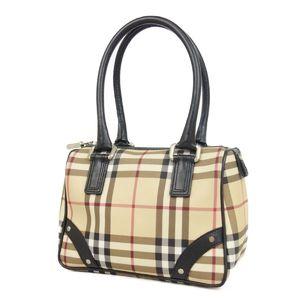 Burberry BURBERRY PROSUM Check PVC Leather Handbag Ladies Beige / Brown Bag