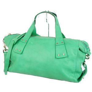 Alexander McQueen McQue 2way Leather Shoulder Bag Handbag Made in Italy Green Ladies