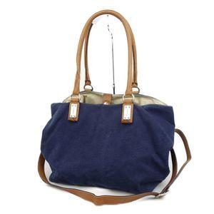 Zanellato ZANELLATO Made in Italy Women's 2way shoulder bag handbag canvas leather navy ladies バ ッ グ