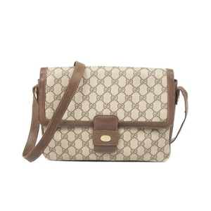 baeeecd45bb596 Gucci GUCCI Old old gucci GG Shoulder bag Pigskin PVC Made in Italy Beige /  Brown