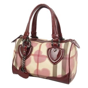 Burberry Prorsum BURBERRY PROSUM Check Heart handbag Boston bag Women's beige / Bordeaux series
