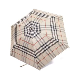 Burberry BURBERRY Nova plaid folding umbrella domestic genuine beige women's mens