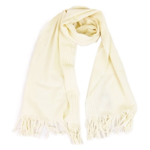 Gucci GUCCI Wool Fringe Muffler Ladies Made in Italy Ivory
