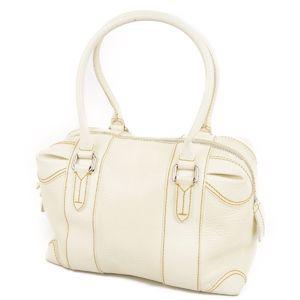Fendi FENDI Patent Leather Handbags Women's Italian Off-White Enamel Bags