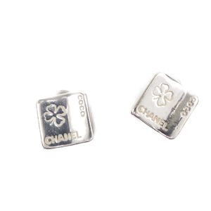 Chanel CHANEL Clover Motif Earrings AG925 SV925 Sterling Silver Women's Accessories