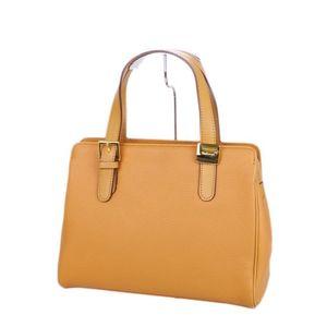 Burberry Burberrys Ladies Leather Handbag Lined Horse Ferry Plaid Light Brown Bag Vintage