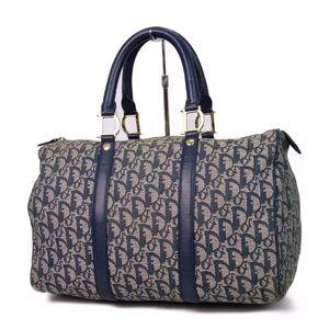 Christian Dior Made in Italy Ladies D Bracket Padlock Trotter Boston Bag Handbag Canvas 鞄 Vintage
