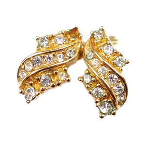 Christian Dior Ladies Light Stone Earrings Accessories Gold
