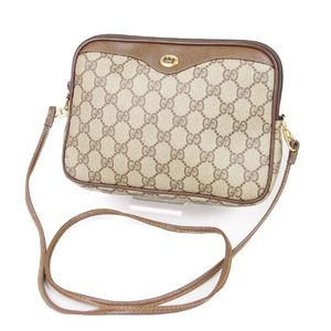 f73f522bdb1df5 Gucci GUCCI 80s Old old gucci GG Shoulder bag Pigskin Italian Ladies Beige  / Brown Vintage