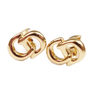 Christian Dior Ladies CD Logo Earrings Accessories Gold