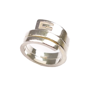 08d69468f Gucci GUCCI Ladies G Logo Rings Accessories 11 Silver