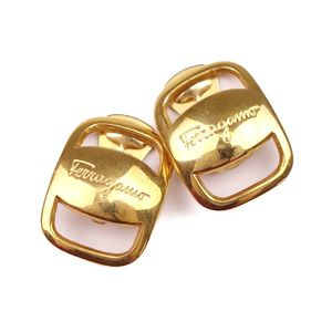 Salvatore Ferragamo Made in Italy Ladies Valla Earrings Gold
