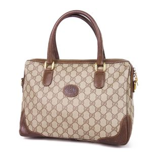 fd2d9f446f21 Gucci GUCCI 80's Old old gucci GG Handbag Boston bag Made in Italy Beige /  Brown