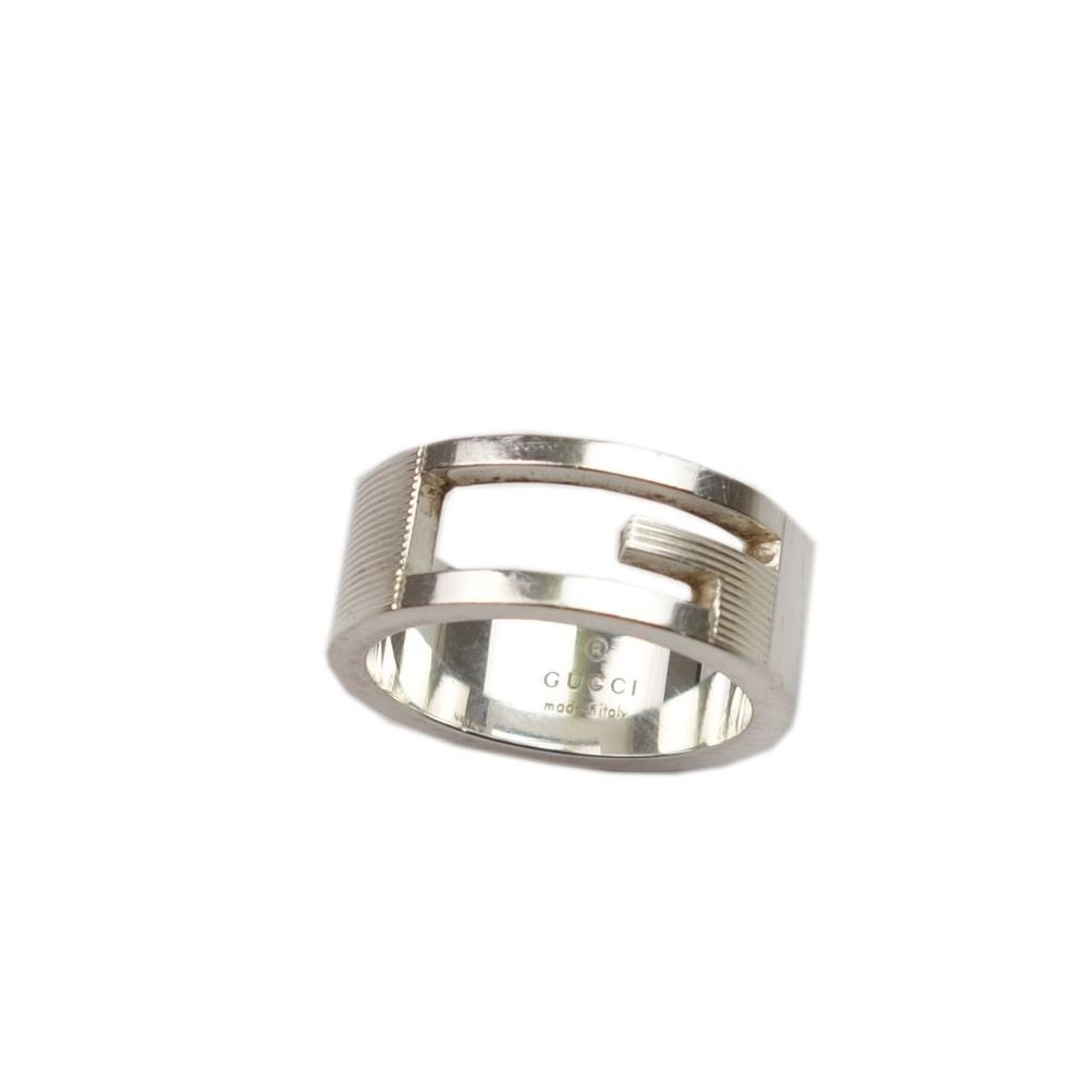 fccfdea1 Gucci GUCCI Made in Italy Men's Silver 925 Ring Accessories 20 | elady.com