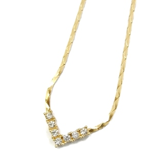 Christian Dior Ladies Light Stone Necklace Pendant Accessories Gold Vintage