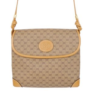 3ff4309b6d31 Old Gucci GUCCI Micro GG Shoulder Bag Women's Italian Beige / Light Brown  Vintage