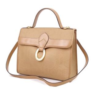 Christian Dior Trotter Pattern 2way Handbag Shoulder Bag Beige / Gold Ladies Bags France Vintage