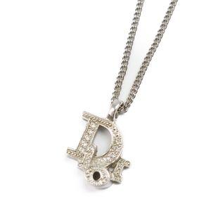 Christian Dior Ladies Rhinestone Logo Necklace Accessories Pendant Vintage
