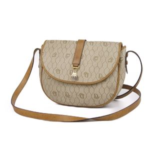 Christian Dior Made in France Ladies Honeycomb Pattern Shoulder Bag Full PVC Leather Beige 鞄 Vintage