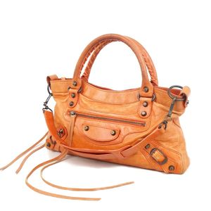 Balenciaga BALENCIAGA The First 103208 2way handbag Semi-shoulder bag Orange Ladies made in Italy