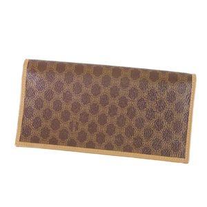 Celine CELINE Macadam Folded Purse Wallet Made in Italy Men's Long Brown Vintage