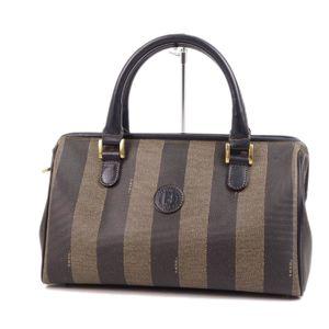 Fendi FENDI Pecan FF Logo Handbags Italian Made Brown / Black Ladies Bags Vintage