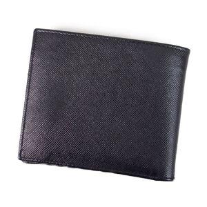 プラダ(Prada) プラダ PRADA 二つ折り 財布 メンズ ウォレット サフィアーノレザー ダークネイビー メンズ財布