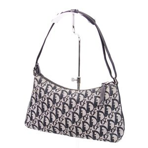Christian Dior Trotter Canvas Handbag Ladies Italian Black Bags Vintage