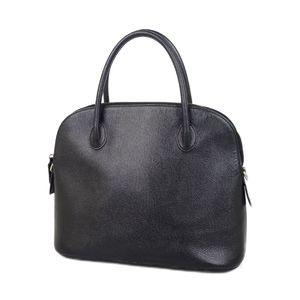 Celine CELINE Italian Leather Handbag Black Ladies Bag Vintage