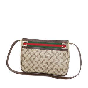 グッチ(Gucci) オールド グッチ GUCCI GG シェリーライン ショルダーバッグ ベージュ/ブラウン ヴィンテージ レディース バッグ