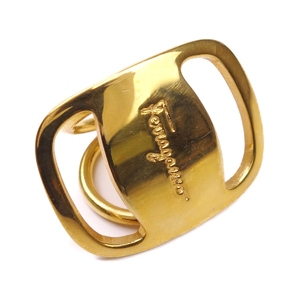 Salvatore Ferragamo Ladies Vara Ring No. 6 Gold Made in Italy
