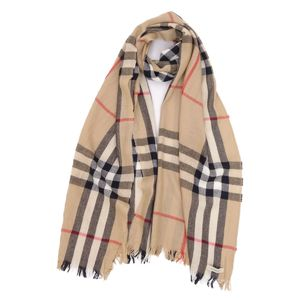 Burberry BURBERRY Cashmere Blend Wool Check Stole Muffler Beige Ladies Men's Scotland