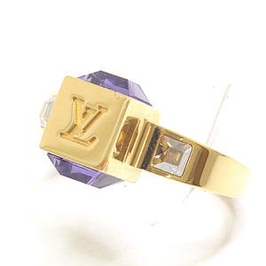 LOUIS VUITTON Louis Vuitton Berg gambling ring M66058 Swarovski M size (9.5)